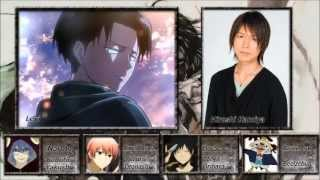 Repeat youtube video [Attack on Titan] All Characters and Voice Actors[Shingeki no Kyojin]進撃の巨人 声優