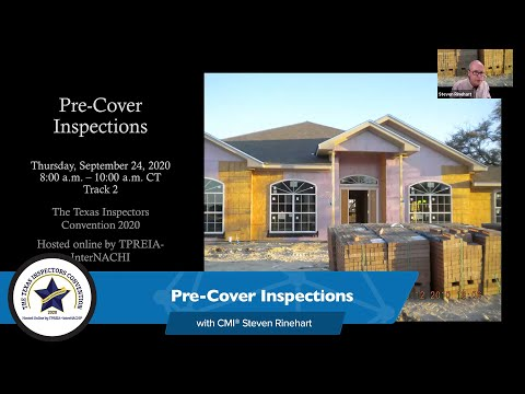Pre-Cover Inspections At The Texas Inspectors Convention 2020