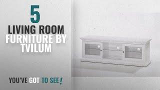 Top 10 Tvilum Living Room Furniture [2018]: Tvilum 7781149 Sonoma TV Stand, White