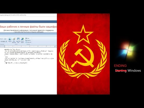 Soviet Ransomware destroys Capitalist Windows