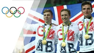 Team GB wins third consecutive gold in Men's Cycling Track Team Sprint