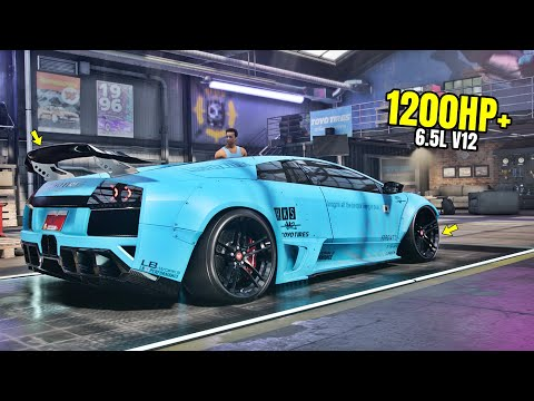 Need For Speed Heat Gameplay - 1200HP+ LAMBORGHINI MURCIELAGO SV Customization | Drift Build