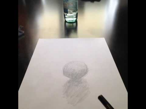 Blurry Edge Between Pencilpaper Reality Snooker Ball Art - Reality with pencil and paper