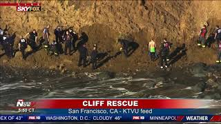 BURIED UNDER SAND: San Francisco Fire Crews Search for Person at Fort Funston (FNN)