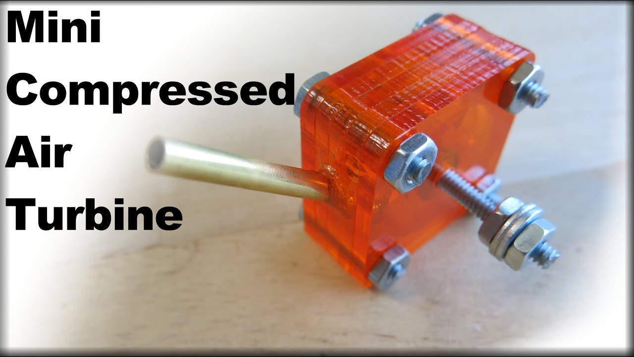 Mini compressed air turbine fozztech youtube for What is air motor