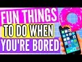 WHAT TO DO WHEN YOU'RE BORED DURING THE SUMMER
