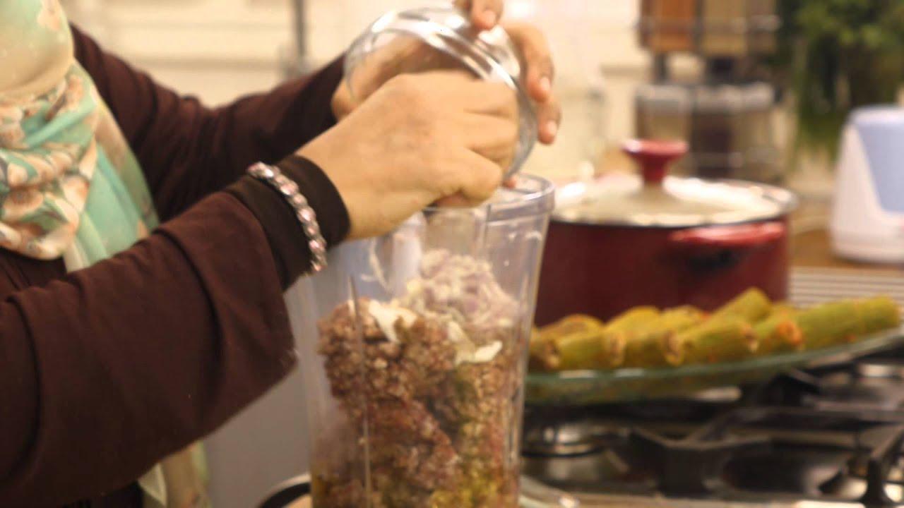 رول لحم مفروم محشي زيتون وجزر ومحشي كوسة مع منال رشاد فى الأكل البيتى (الجزء الثانى)