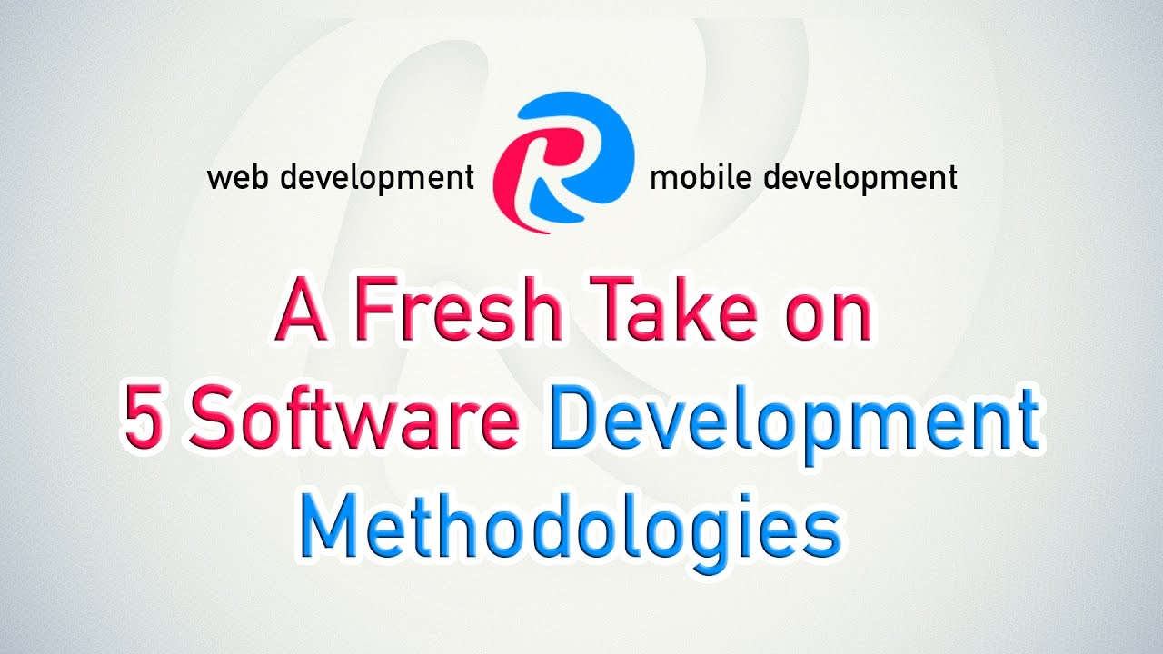 What is the Best Software Development Methodology for Your Project?. Mobile apps development is a complex process which is based on methodologies. Let's take a look at 5 different developmental methodologies to find out the mo.... Youtube video for project managers.