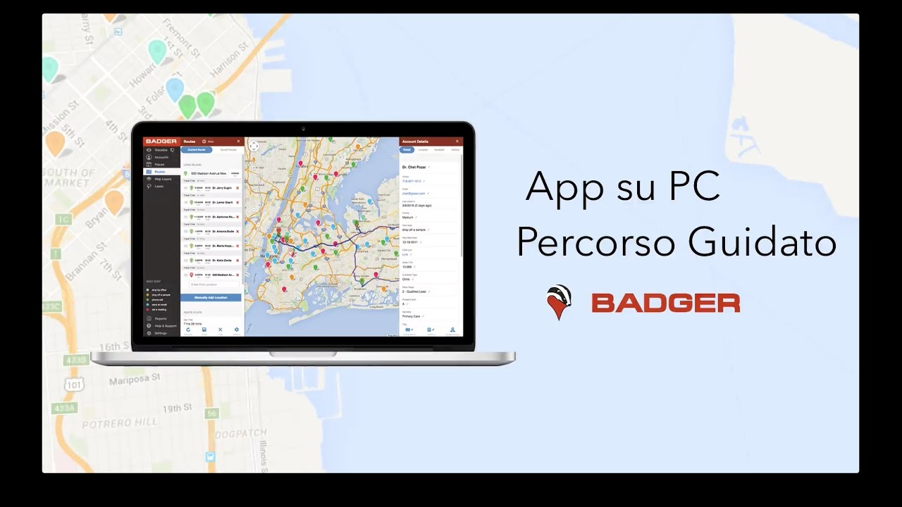 Badger Maps - Tutorial Video - Italiano on kindle fire maps, i phone maps, star media maps, more maps, add gta 5 maps, time magazine maps, ios7 maps, dirty maroon maps, united states forest service maps, yellow pages maps, ifit maps, top 10 maps, maroon vintage maps,
