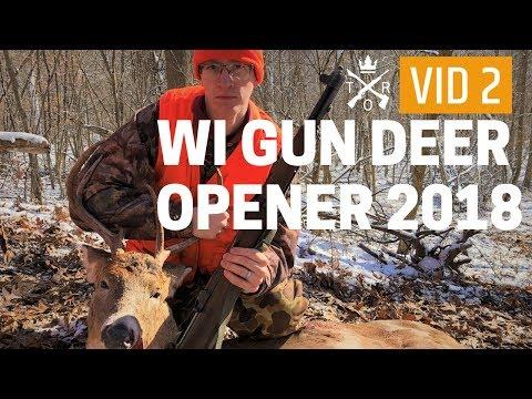 WI GUN DEER OPENER 2018: Odd Looking Antlers On Buck Taken With M1 Garand