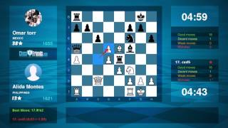 Chess Game Analysis: Alida Montes - Omar torr : 1-0 (By ChessFriends.com)