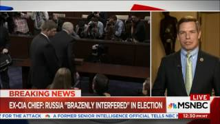 Rep. Swalwell on MSNBC discussing John Brennan's testimony to House Intel Committee