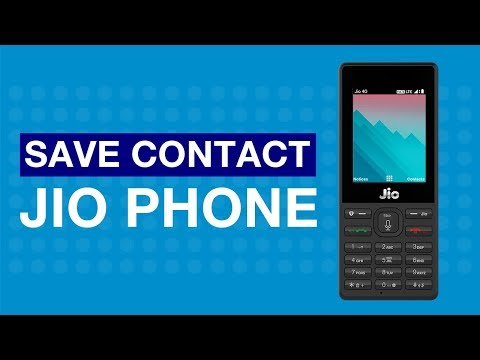 JioCare - How to Save Contact on JioPhone...