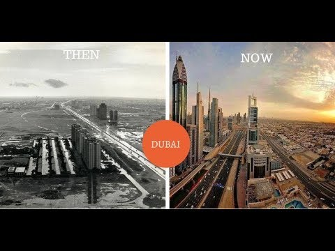 Dubai Incredible Before And After Pictures Of Famous Cities Youtube