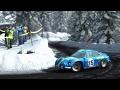 Dirt Rally (PC) - Route de Turini (Monte Carlo) In The Renault Alpine A110 (1960s)