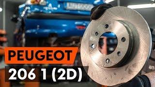 Skifte Bremseskiver PEUGEOT 206: verkstedhåndbok