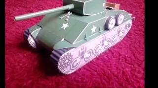 Sherman tank papercraft