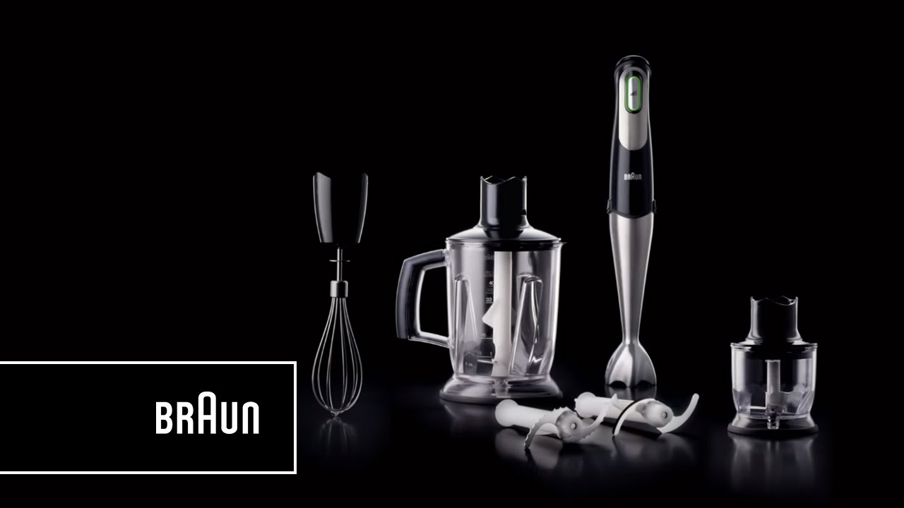 Braun Multiquick 7 Hand Blender Mq 745 Aperitive One Squeeze All Speeds Introduction Youtube