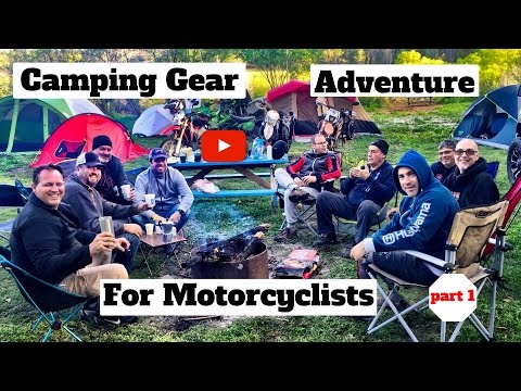 Camping Gear Motorcycle Travel part 1