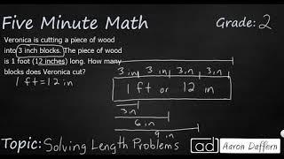 2nd Grade Math Solving Length Problems