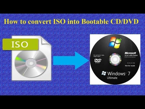 Burn bootable cd or dvd from iso file(image file) of window 7