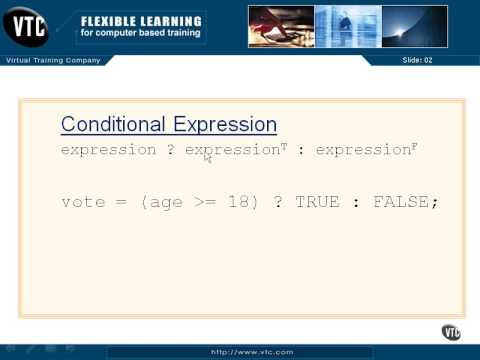 C Programming Tutorial 2-12: Conditional Expressions
