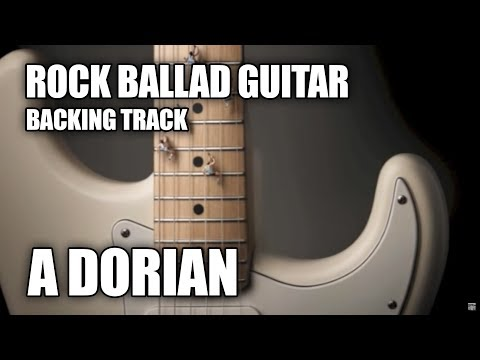 Rock Ballad Guitar Backing Track In A Dorian