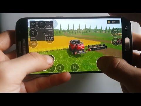 Farming simulator 2017 on Android(samsung galaxy s7) ep2.sosnovka map