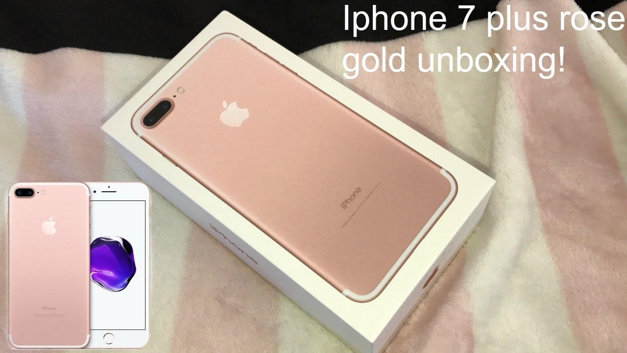 1e66f519386 ♡Iphone 7 plus rose gold unboxing!♡ | India Grace - YouTube