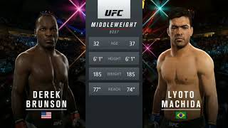 EA Sports UFC 2: Lyoto Machida vs. Derek Brunson UFC São Paulo Prediction
