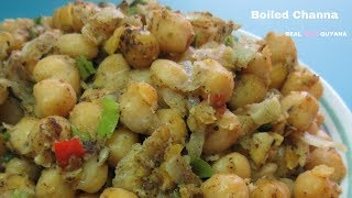 Boil and Fry Channa (Chick Peas) step by step Recipe Video l Real Nice Guyana.