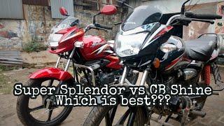 Honda Shine vs Hero Super Splendor - Detailed Comparison