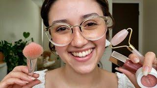 ASMR Friend Pampers You ⛅ Tingly Spa & Makeup (Layered Sounds)