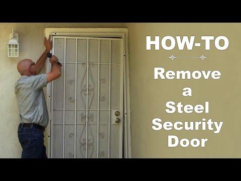 How-To:  Remove a Steel Security Door