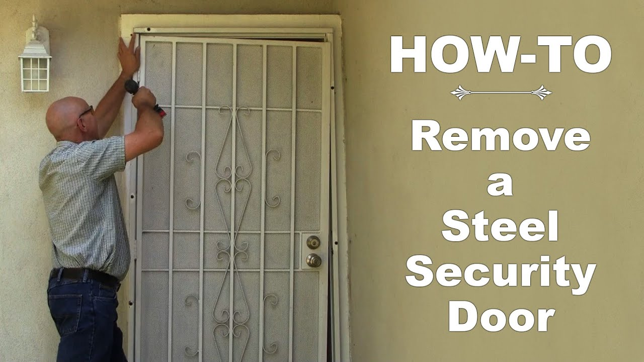 How To Remove A Steel Security Door Youtube