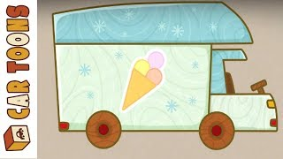Car Toons. Ice cream truck. Cartoon for kids.