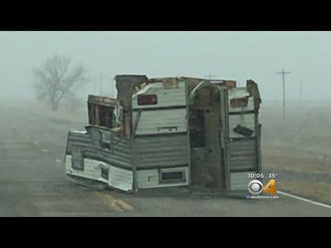 Severe Wind & Snow Shut Down Interstate 70 On Eastern Plains