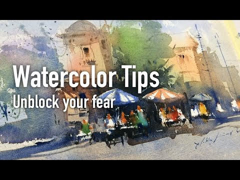 Best Watercolor Tips and working session for beginner's