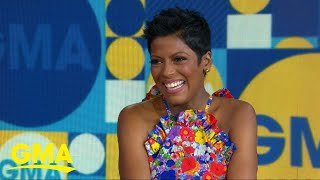 Tamron Hall discusses giving birth at 48 live on 'GMA'