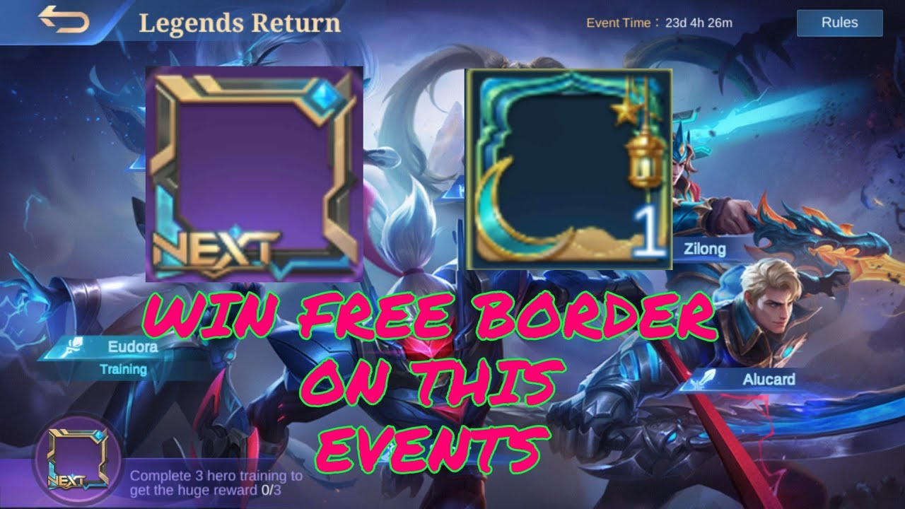 WIN FREE BORDER ON THIS EVENT | MLBB 2020
