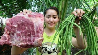 Yummy Pork Rib Sour Soup Cooking With Long bean - Pork Rib Sour Soup Cooking - Cooking With Sros