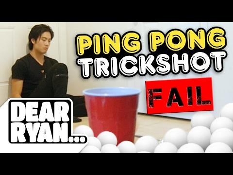 Ping Pong Trickshots! (Dear Ryan)