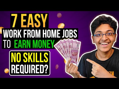 Top 7 Easy Work From Home Jobs to Earn Money🔥 | No Skills Needed?!