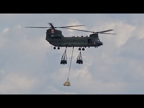 Boeing CH-47 HC.6A Chinook Transport Display Royal Air Force RAF ILA 2018 Berlin AirShow