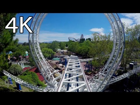 The New Revolution front seat on-ride 4K POV Six Flags Magic Mountain