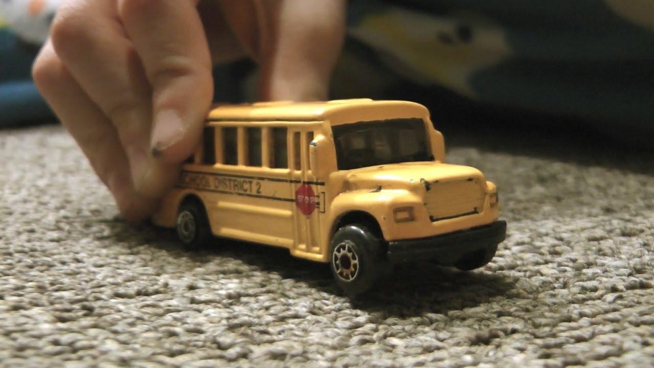 Hot Wheels School Bus Race Cars Trucks Toys In Action Kids