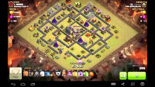 TH9 VS TH9 Queen walk , 1 Golem and Hog rush @ジルミレさん