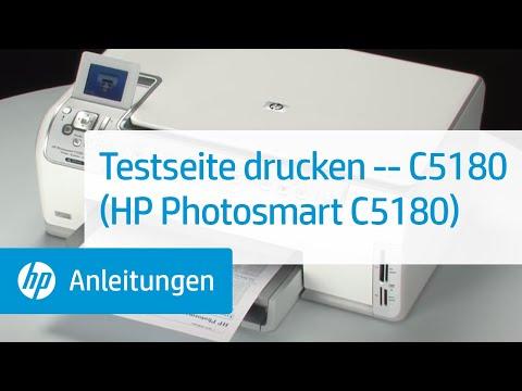 Testseite drucken -- C5180 (HP Photosmart C5180) - YouTube