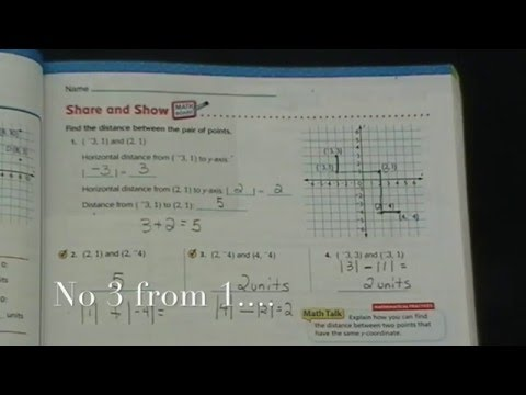 Lesson 3.9:  Distances on the Coordinate Plane
