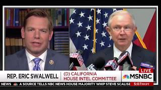 Rep. Swalwell on MSNBC discussing President's defense of his son's Russia meeting